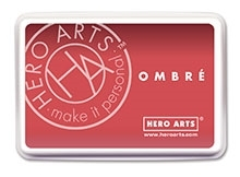 Hero Arts Ombre LIGHT RUBY TO ROYAL RED Ink Pad AF319 Preview Image
