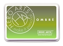 Hero Arts Ombre LIME TO FOREVER GREEN Ink Pad AF320 zoom image