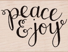 Hero Arts Rubber Stamp PEACE AND JOY K6104* Preview Image