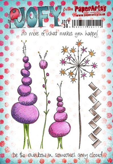 Paper Artsy JOFY 38 Happy Rubber Cling Stamp JOFY38 zoom image