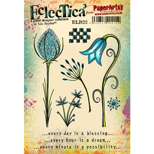 Paper Artsy ECLECTICA3 LIN BROWN 22 Rubber Cling Stamp ELB22 Preview Image
