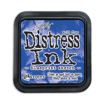 Distress ink pad Blueprint Sketch