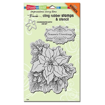 Stampendous Create-A-Poinsettia Stamp