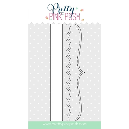 Pretty Pink Posh STITCHED BORDERS 3 Steel Craft Die PPPD014 Preview Image