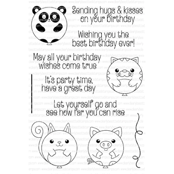 Clearly Besotted BEST BIRTHDAY Clear Stamp Set