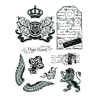 Viva Decor CROWN LION AND WINGS Clear Stamps 400300200*
