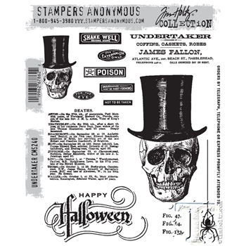 Tim Holtz Cling Rubber Stamps UNDERTAKER CMS240