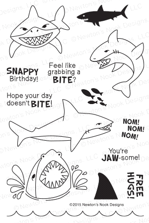 Newton's Nook Designs SHARK BITES Clear Stamp Set 20150701 Preview Image
