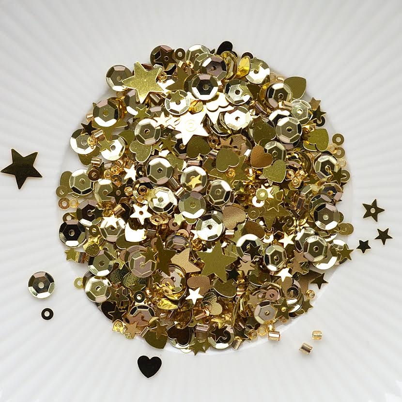 Lucy's Card Gold Dust Sequin Mix