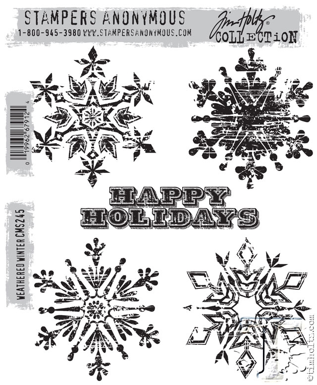 Tim Holtz Cling Rubber Stamps  WEATHERED WINTER CMS245 zoom image
