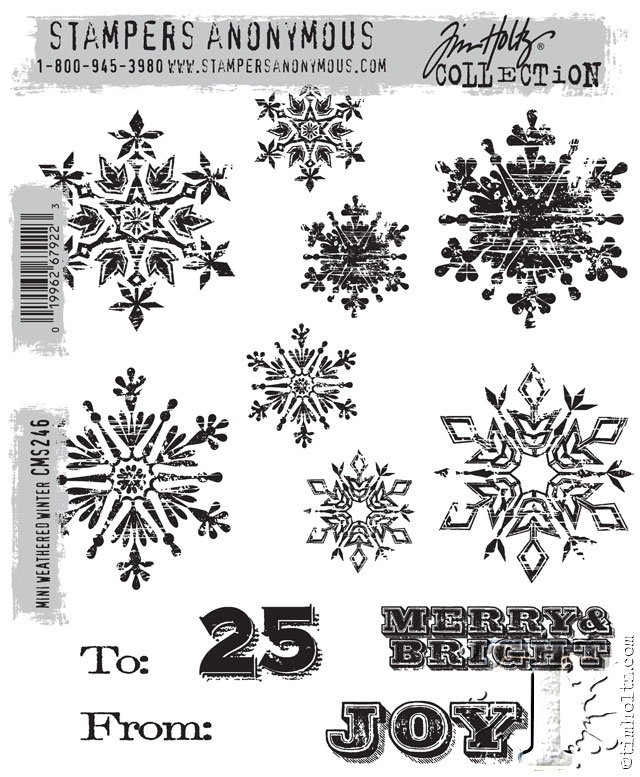 Tim Holtz Cling Rubber Stamps  MINI WEATHERED WINTER CMS246 zoom image