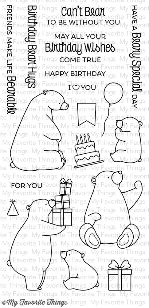 My Favorite Things BIRTHDAY BEARS Clear Stamps BB21 zoom image