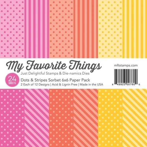 My Favorite Things DOTS AND STRIPES SORBET 6x6 Paper Pack 00760 Preview Image