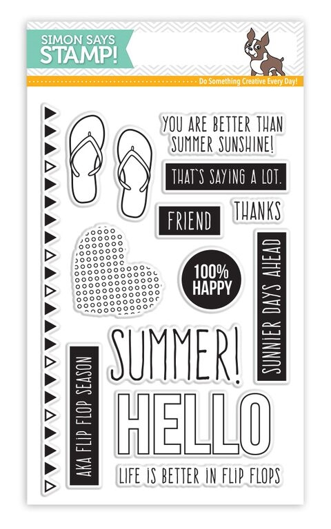 Simon Says Clear Stamps FLIP FLOP SEASON sss101543 zoom image