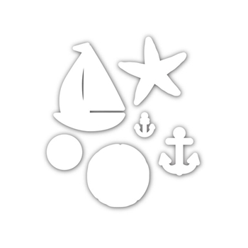 Simon Says Stamp SET SAIL Wafer Dies sssd111478 Splash of Color *