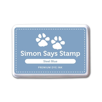 Simon Says Stamp Premium Dye Ink Pad STEEL BLUE ink064 Splash of Color