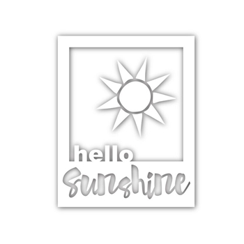 Simon Says Stamp HELLO SUNSHINE FRAME Wafer Dies sssd111484 Splash of Color