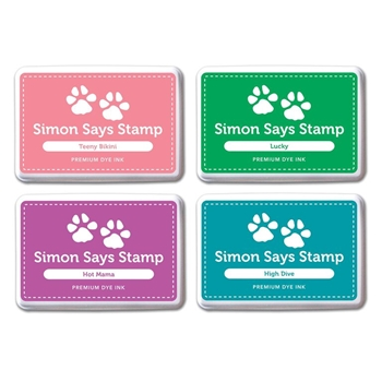 Simon Says Stamp Premium Dye Ink Pad Set LAURA'S PICKS #2 SetLP213 Splash of Color