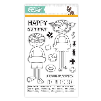 Simon Says Clear Stamps POOL PLAY sss101524