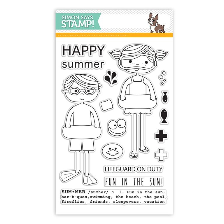 Simon Says Clear Stamps POOL PLAY sss101524 * zoom image