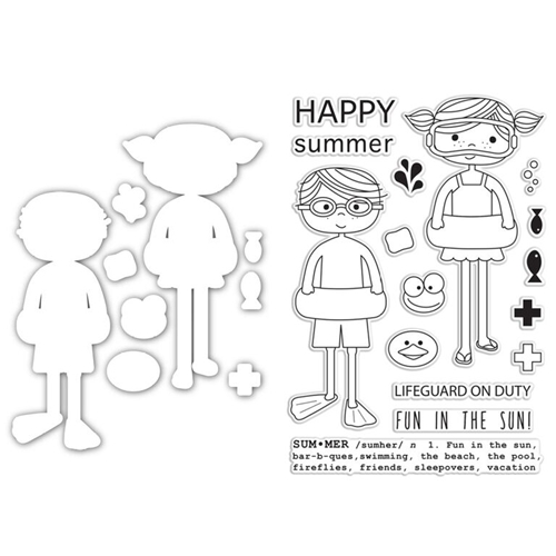 Simon Says Stamps and Die Set HAPPY SWIMMERS SetHS209 Preview Image