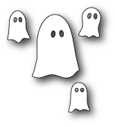 Memory Box GROUP OF GHOSTS POPPY STAMPS Craft Die 1239