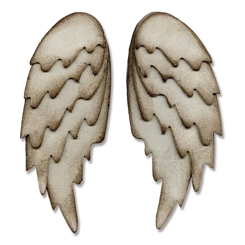 Tim Holtz Sizzix L Die FEATHERED WINGS Bigz 660990 Preview Image
