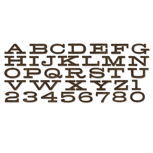 Tim Holtz Sizzix Dies BILLBOARD ALPHABET Bigz XL 660991 * Preview Image