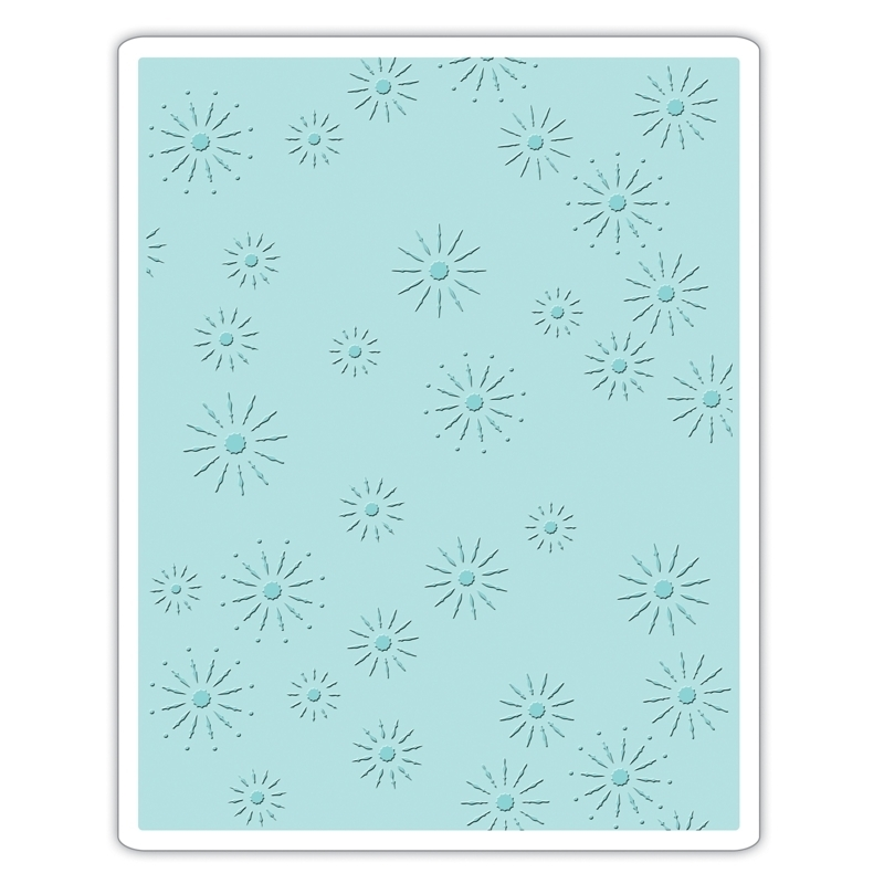 Tim Holtz Sizzix SPARKLES Texture Fades Embossing Folder 661001 zoom image