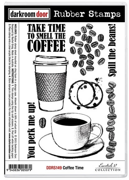 Darkroom Door Cling Stamp COFFEE TIME Rubber UM DDRS149 zoom image