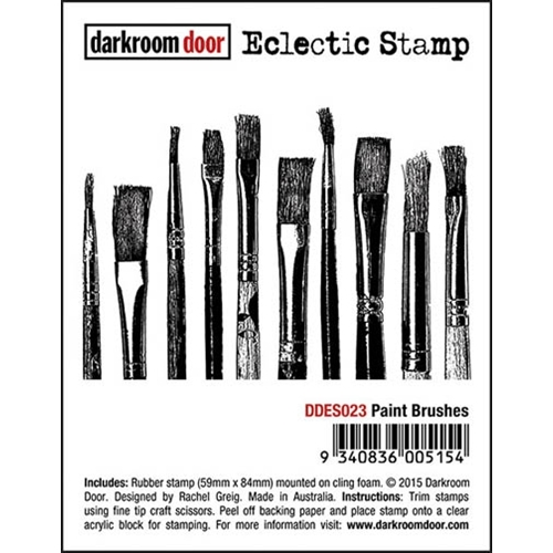 Darkroom Door Cling Stamp PAINT BRUSHES Eclectic Rubber UM DDES023 Preview Image