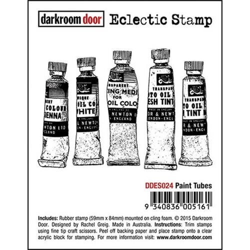 Darkroom Door Cling Stamp PAINT TUBES Eclectic Rubber UM DDES024 Preview Image
