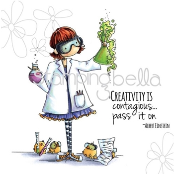 Stamping Bella Cling Stamp TINY TOWNIE SAGE THE SCIENTIST Rubber UM eb313
