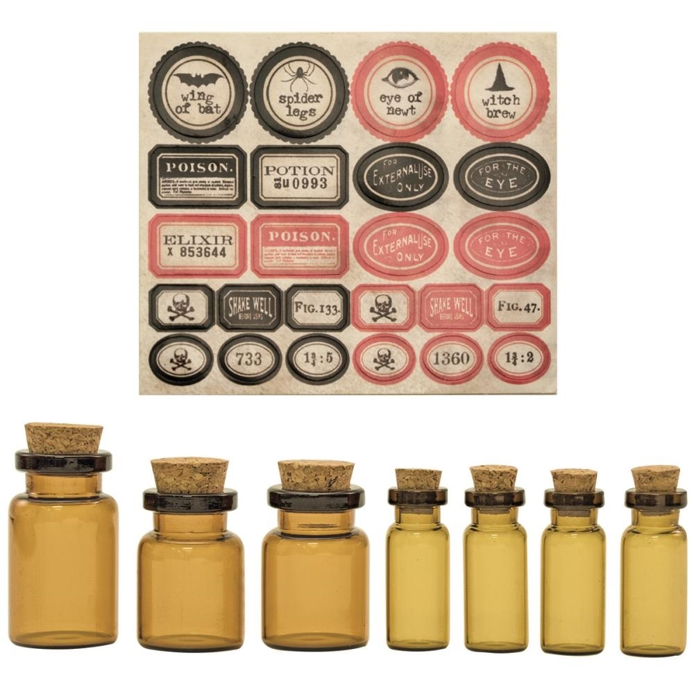 Tim Holtz Idea-ology APOTHECARY VIALS TH93231 zoom image