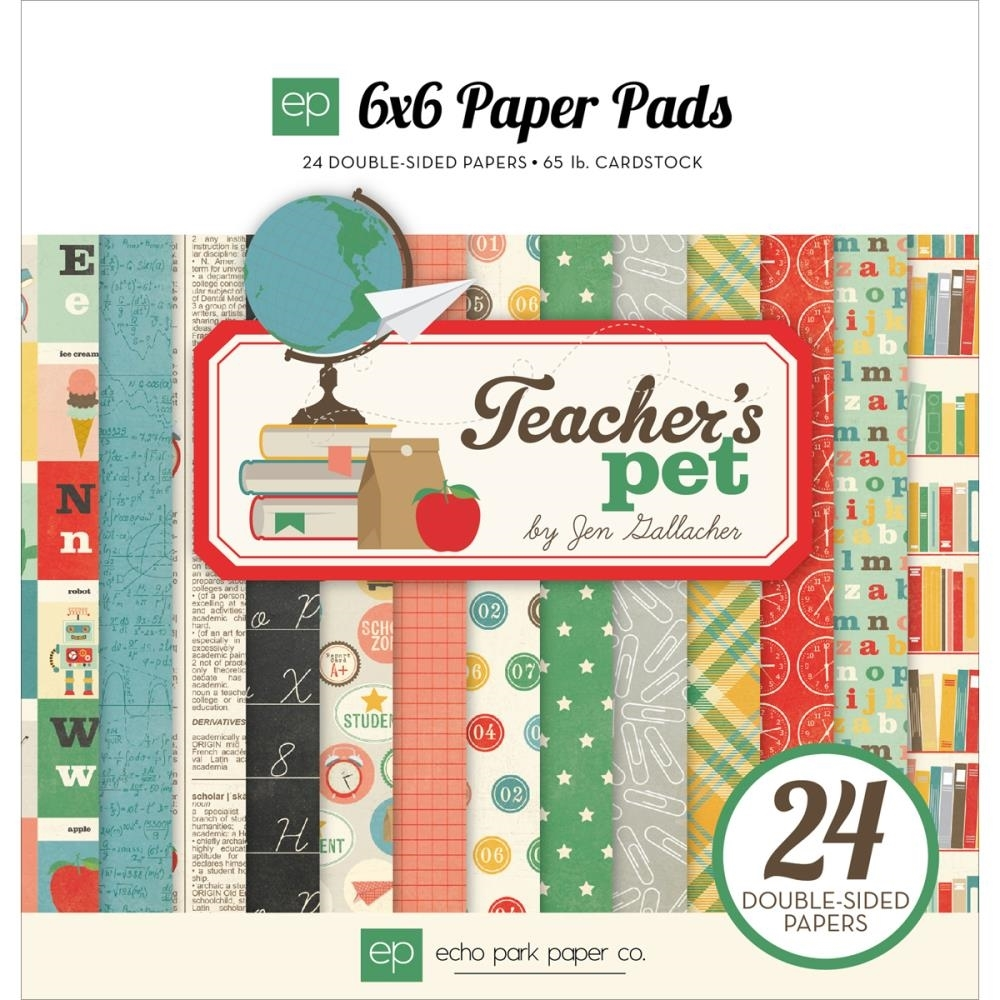 Echo Park TEACHER'S PET 6 x 6 Paper Pad TP90023 zoom image