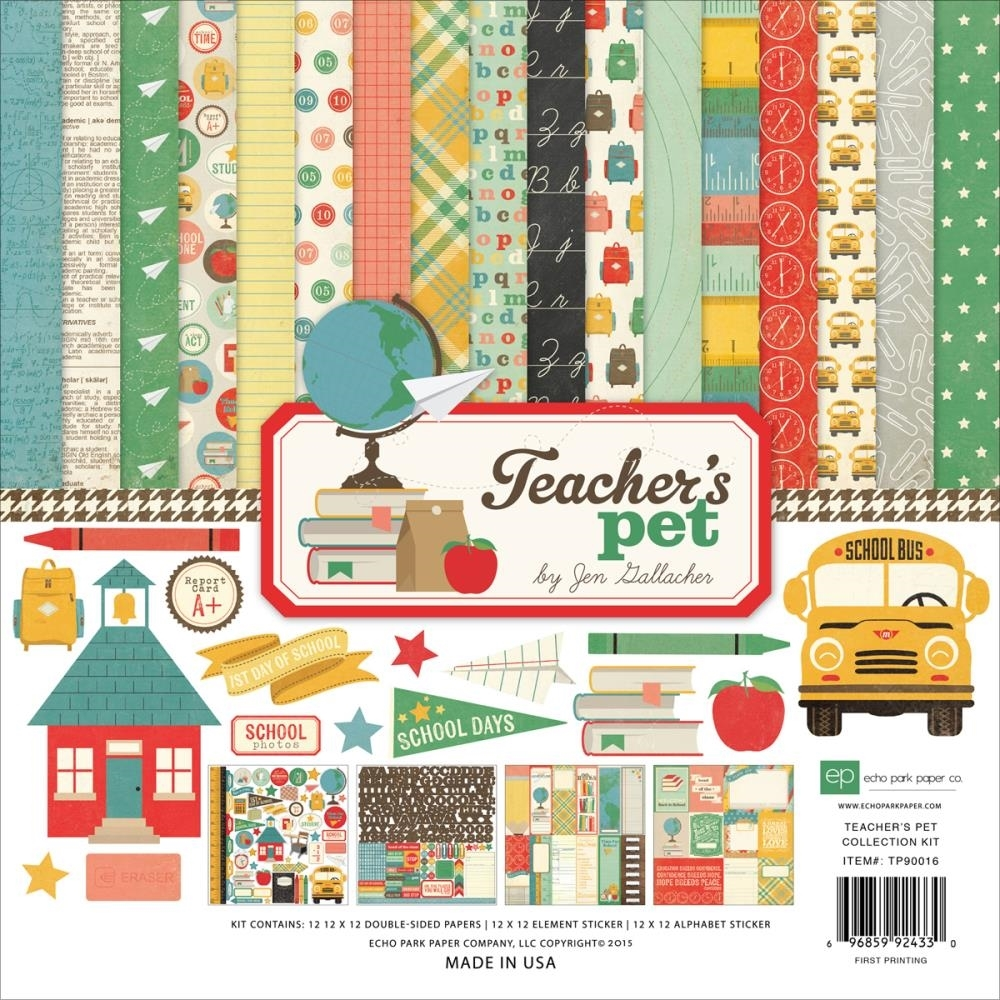 Echo Park TEACHER'S PET 12 x 12 Collection Kit TP90016 zoom image
