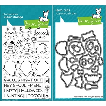 Lawn Fawn SET LF15SETBOOYA GHOULS Clear Stamps and Dies