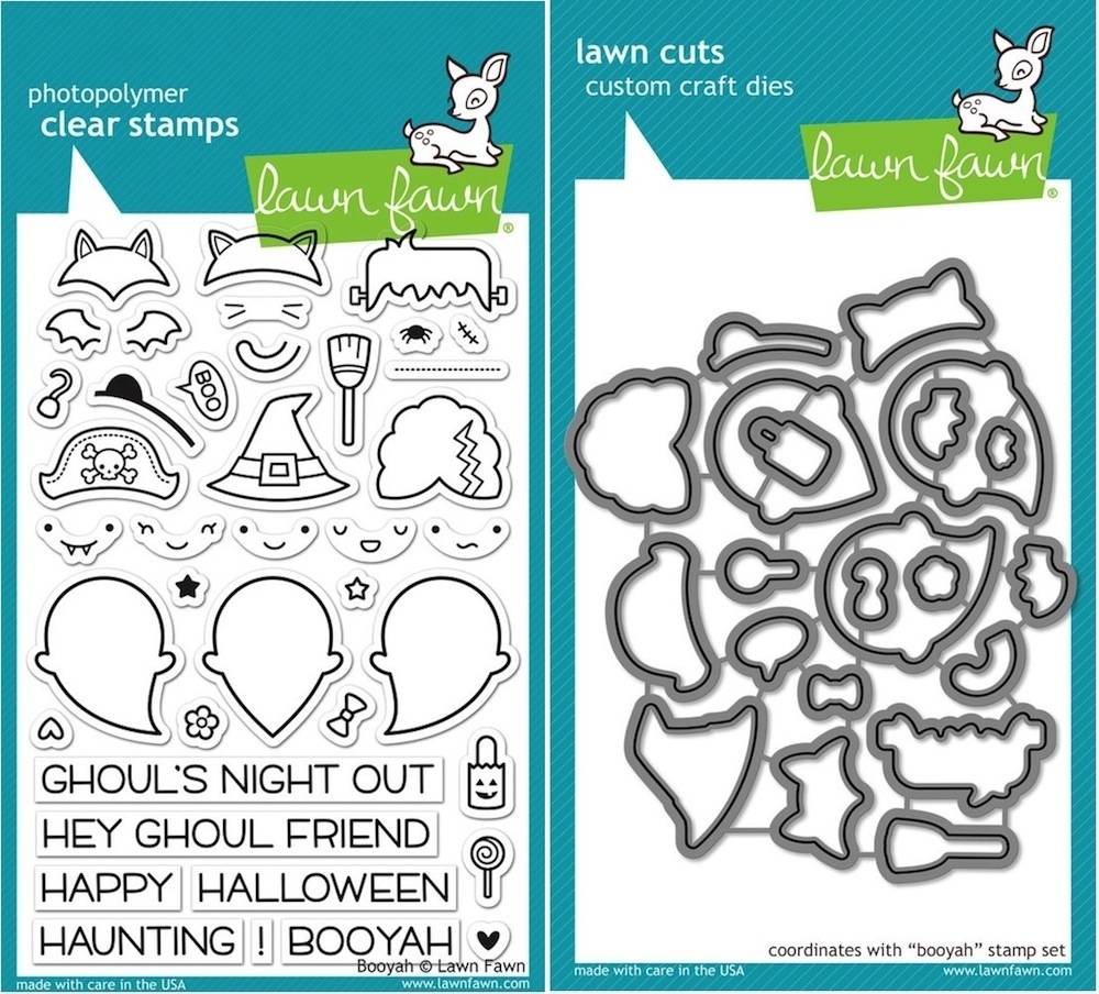 Lawn Fawn SET LF15SETBOOYA GHOULS Clear Stamps and Dies zoom image
