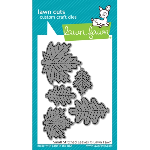Lawn Fawn SMALL STITCHED LEAVES Lawn Cuts Dies LF994 Preview Image