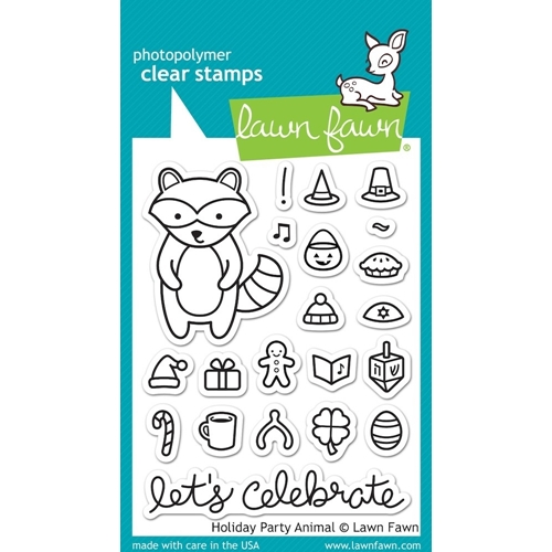 Lawn Fawn HOLIDAY PARTY ANIMAL Clear Stamps LF934 Preview Image