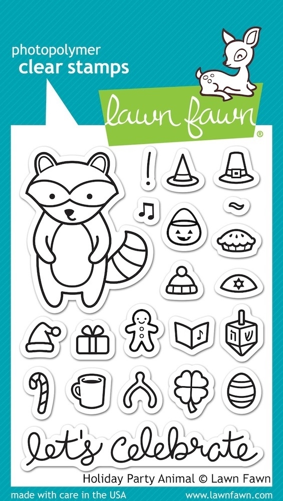 Lawn Fawn HOLIDAY PARTY ANIMAL Clear Stamps LF934 zoom image