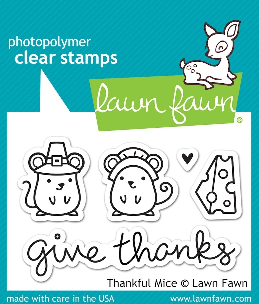 Lawn Fawn THANKFUL MICE Clear Stamps LF936 zoom image