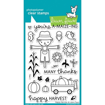 Lawn Fawn HAPPY HARVEST Clear Stamps LF971