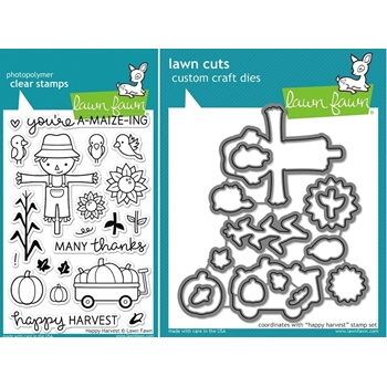 Lawn Fawn SET LF15SETHH SCARECROW Clear Stamps and Dies
