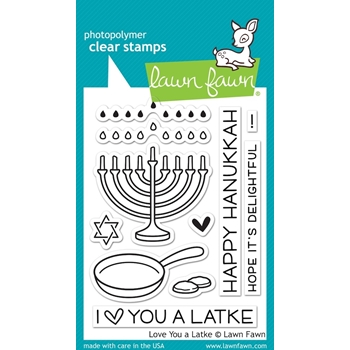 Lawn Fawn LOVE YOU A LATKE Clear Stamps LF941