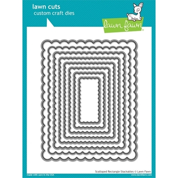 Lawn Fawn SCALLOPED RECTANGLE STACKABLES Lawn Cuts Dies LF997