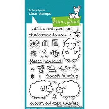Lawn Fawn BAAAH HUMBUG Clear Stamps LF939