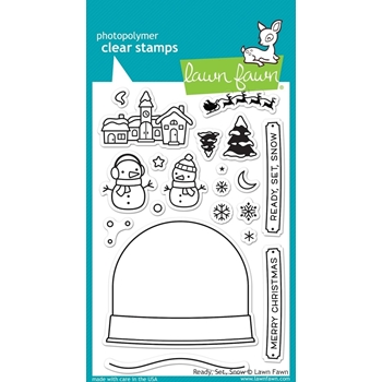 Lawn Fawn READY SET SNOW Clear Stamps LF973