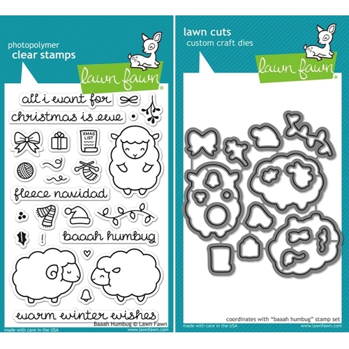 Lawn Fawn SET LF15SETBAAAH FLEECE NAVIDAD Clear Stamps and Dies Preview Image