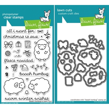 Lawn Fawn SET LF15SETBAAAH FLEECE NAVIDAD Clear Stamps and Dies
